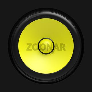Big yellow speaker