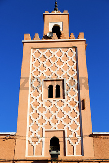 in   africa minaret and the     sky
