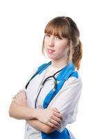 Portrait of young woman doctor