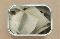 tea bags in tin box