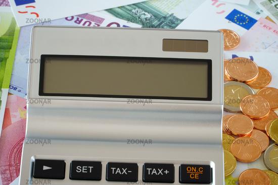 Nahaufnahme leeres Display vom Taschenrechner