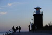 Lighthouse at dusk