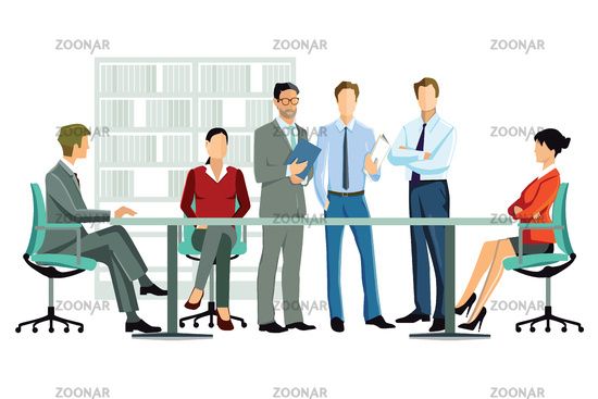 Office discuss employee