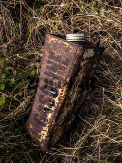 Old Rusty Gasoline Can