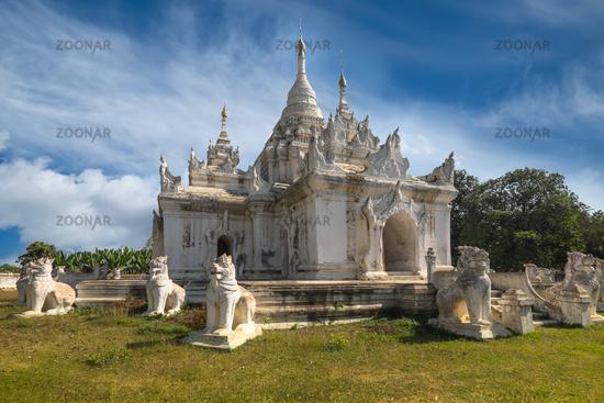 White Pagoda at Inwa city. Myanmar (Burma)
