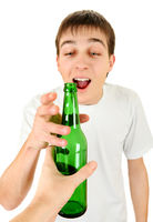 Teenager take a Beer