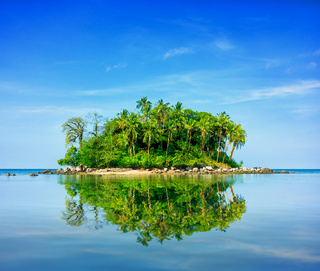 Colorful Little Tropical Island in Thailand, Southeast Asia