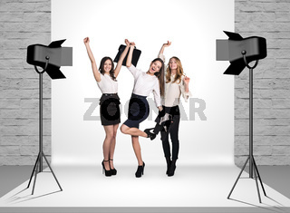 Business women in photo studio
