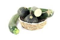 mixed Zucchini in a basket
