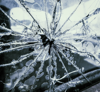 Smashed Truck Window
