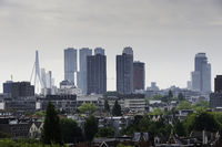 skyline Rotterdam with the erasmusbridge