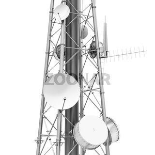3d detailed communication tower, wireless equipment