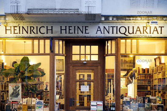 Heinrich Heine Antiquarian Books, Duesseldorf, North Rhine-Westphalia. Germany, Europe