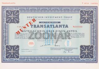 Anteilschein der Firma Deutscher Investment Trust