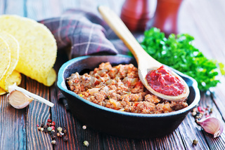 fried ground meat