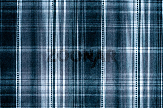Navy blue checked cotton cloth