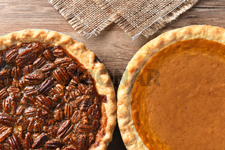 Pecan and Pumpkin Pies