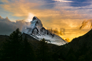 Matterhorn in Swiss Alps