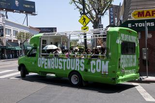 Tourist Bus in Los Angeles, California