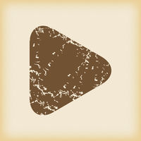 Grungy play icon