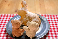 Sweet Easter Rabbit Cake, Bears with Easter Bakery