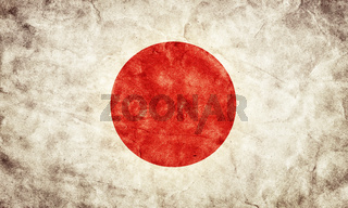 Japan grunge flag. Vintage