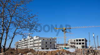construction of an office complex