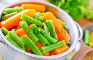 carrot and green beans