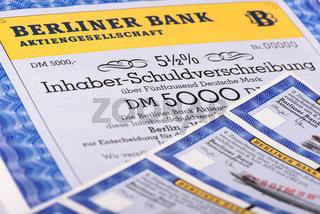 Inhaber-Schuldverschreibung der Berliner Bank