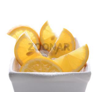 Bowl of Cut Lemons