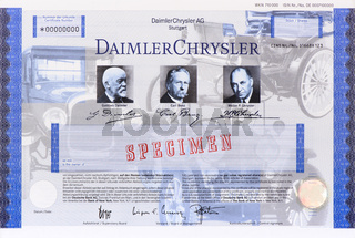 Aktie der Firma Daimler Chrysler