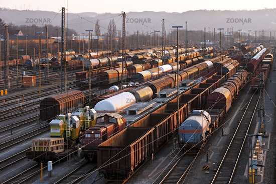 train formation yard Vorhalle, Hagen, Ruhr Area, North Rhine-Westphalian, Germany