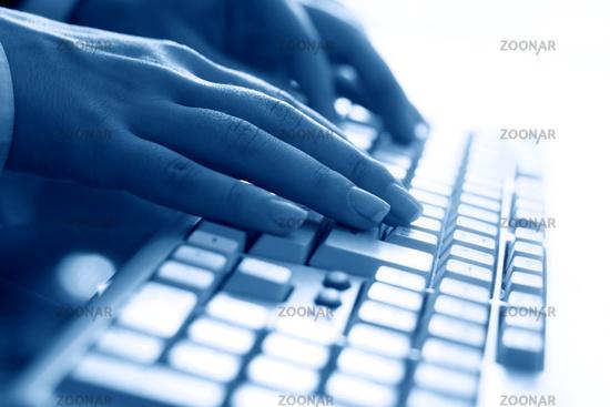 keyboard work hand background