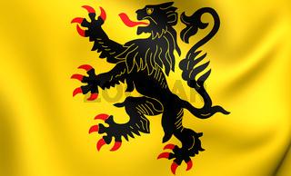 Flag of Nord-Pas de Calais. Close Up.