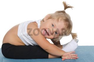 Little girl makes the slopes