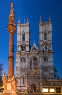 Westminster Abbey during twilight