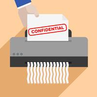 shredding confidential letter