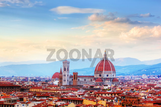 Florence, Italy skyline. Cathedral of Saint Mary of the Flowers
