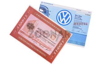 Aktien der Firma VW Volkswagen