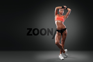 attractive fitness woman with clipping path