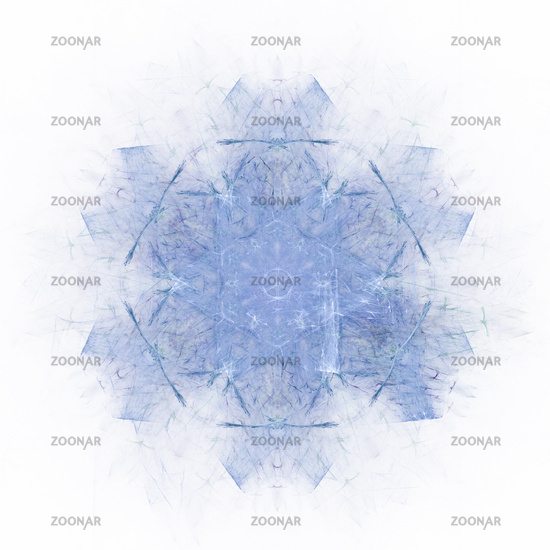 Blue ice-crystall