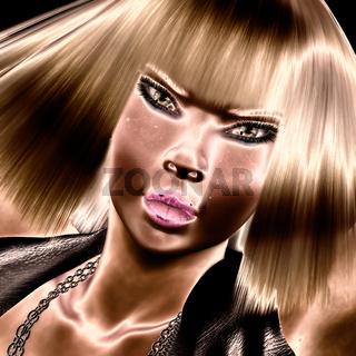 Digital female Face
