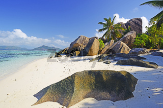 Traumstrand Source d `Argent, Insel La Digue, Seychellen