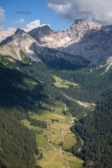 Alpine rocky mountains landscape