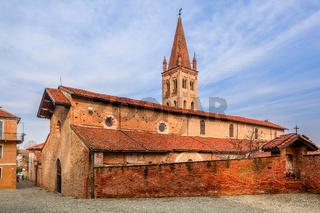 Old church in small italian town.