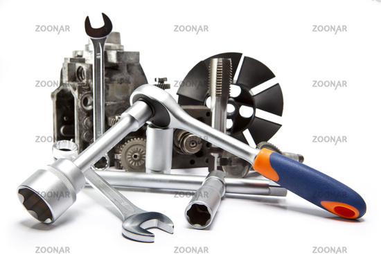 part of car high pressure pump  and the tool for r