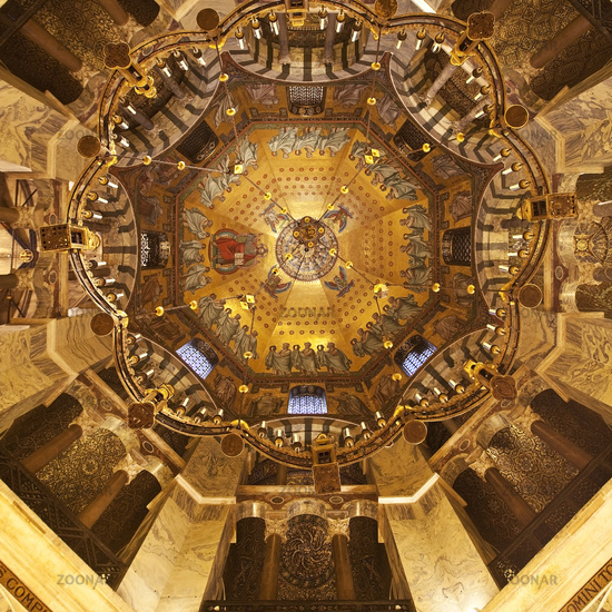 Octagon, Aachen Cathedral, UNESCO World Heritage Site, Aachen, North Rhine-Westphalia, Germany