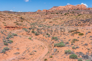 Dry and arid scenery of Glen Canyon National Recreation Area