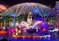 Lake of dreams, light show at Sentosa Musical Fountain
