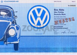 Aktie der Firma VW Volkswagen AG